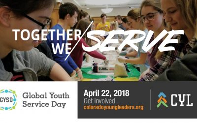 COLORADO YOUNG LEADERS TO ENGAGE 500 YOUTH TO SERVE ON GLOBAL YOUTH SERVICE DAY
